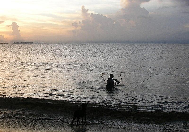 File:Fisherman at Tela, Honduras (5227037625).jpg