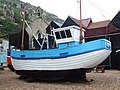 Fishing Boat and Net Houses, Hastings - geograph.org.uk - 1097656.jpg