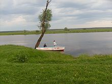 Fishing on the river Sozh. Krichev or Krychaw (Belarus).JPG