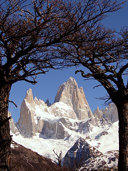 Fitz Roy framed trees (colour balans)
