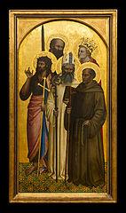 the Saints John the Baptist, Egidius, Gerard of Villamagna, Paul and Catherine (or Miniato)