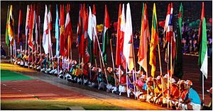 2003 Afro-Asian Games - A view of the participants' flag-bearers