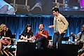 Flickr - Genevieve719 - Elizabeth Meriwether, Zooey Deschanel, Jake Johnson, Max Greenfield, Lamorne Morris.jpg