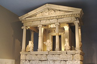 Room 17 - Reconstruction of the Nereid Monument, c. 390 BC Flickr - Nic's events - British Museum with Cory and Mary, 6 Sep 2007 - 167.jpg