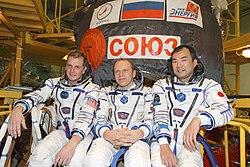 v.l.n.r.: Timothy Creamer, Oleg Kotov, Soichi Noguchi