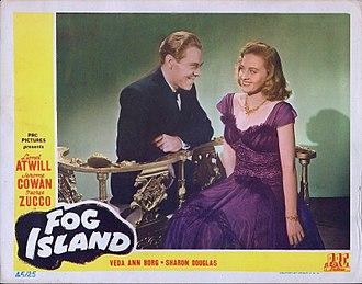 Sharon Douglas - Lobby card from Fog Island (1945)