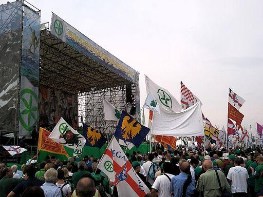 Folla alla festa dei popoli padani, Venezia, 2011