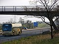 Footbridge over the M69 near Junction 2, Hinckley. - geograph.org.uk - 407694.jpg