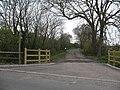 Footpath and farm road off Marston Lane - geograph.org.uk - 769977.jpg