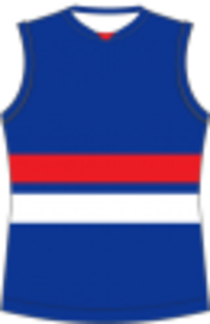 Loddon Valley Football League - Image: Footscray Football Guernsey
