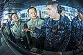 Foreign military officers visit USS George Washington. (10745716156).jpg