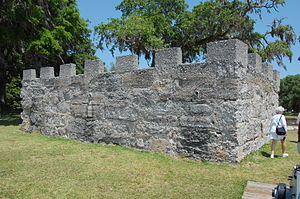Fort Frederica National Monument - Image: Fort Fred Backside