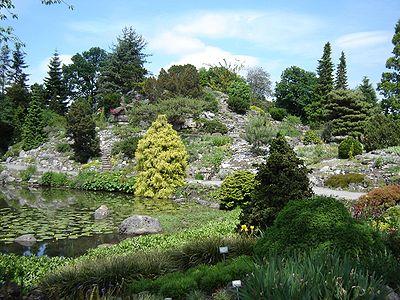 Fort hoofddijk is de botanische tuin hortus botanicus of plantentuin