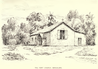 Fort Church, Bangalore - Image: Fort Church, Bangalore (Penny, 1912, p.68)