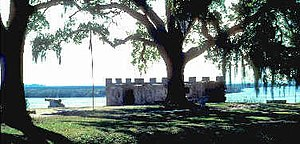 Fort Frederica National Monument - Fort Frederica in 2005