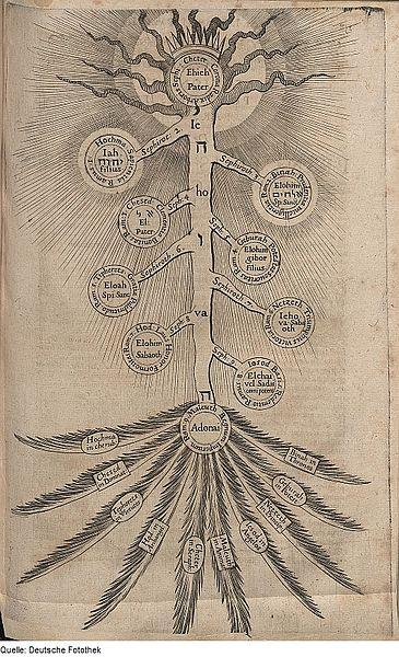 Kabbalistischer Lebensbaum mit den zehn Sefirot.