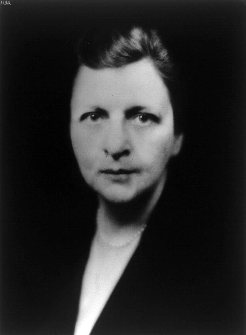 美國第四屆勞動部長,珀金斯女士。