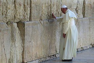 2014 in Israel - Pope Francis visits the Western Wall