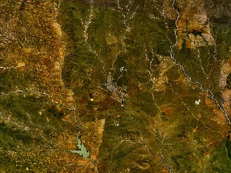 North-East District (Botswana) - Francis town from the space