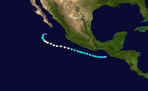Hurricane Frank (2010) - Image: Frank 2010 track