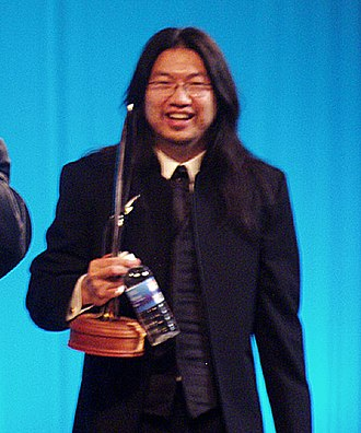 Frank Wu (artist) - Frank Wu, at the Hugo Awards ceremony, WorldCon, Boston, 2004