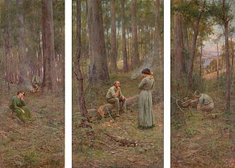 Frederick McCubbin - The Pioneer, 1904, National Gallery of Victoria
