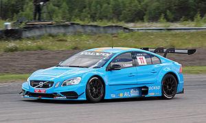 Fredrik Ekblom - Ekblom driving for Volvo Polestar Racing at the Anderstorp round of the 2012 TTA – Racing Elite League season.