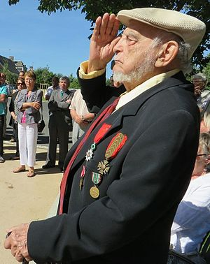 Alfred de Grazia - French Medal of Honor Recipient Alfred de Grazia helping celebrate World War II Victory Day in France