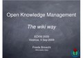 Frieda Brioschi - Open Knowledge Management - The wiki way - ECKM 09.pdf