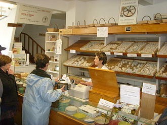 Crottin de Chavignol - Retail shop of one of Chavignol's two cheese makers