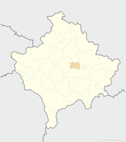 Location of the municipality of Kosovo Polje within Kosovo