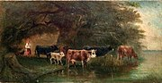 Fyodor Vasilyev A girl with cows Chaykovsky.jpg