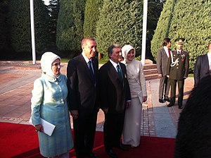 Recep Tayyip Erdoğan - Erdoğan and Abdullah Gül with their respective spouses