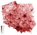 Gęstość zaludnienia w Polsce w 2016 roku.png