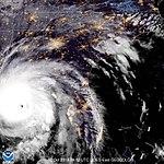 GOES East GeoColor Imagery of Hurricane Michael (October 10, 2018) (45173657372).jpg