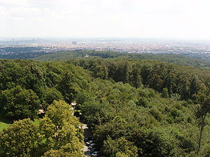 Gallitzinberg - View across Vienna from the observation tower at the summit of the Gallitzinberg