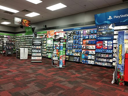 Interior of a store in 2019