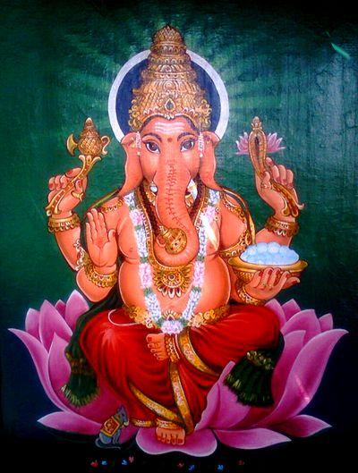 Shiva och Parvati, Ganesha i knät