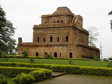 Kareng Ghar is a seven-storied royal palace built by Rajeswar Singha of the Ahom dynasty.