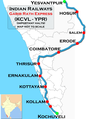 Garibrath Express (Yesvantpur - Kochuveli) Route map.png