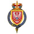 Garter-encircled Coat of Arms of Prince Paul of Yugoslavia.png