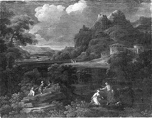 Landschaft mit Christus und Maria Magdalena (Noli me tangere) (Umkreis)