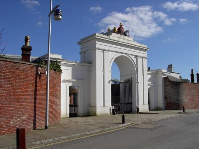 Gate to Clarence Yard - geograph.org.uk - 510
