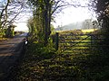 Gates to access route, Old Colwall - geograph.org.uk - 1077926.jpg