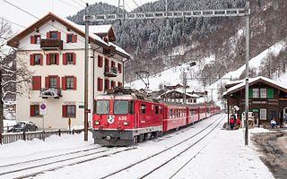 Klosters Dorf railway station second Rhaetian railway station in the village of Klosters, Switzerland