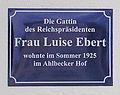 Gedenktafel Dünenstr 47 (Ahlbeck) Luise Ebert.jpg