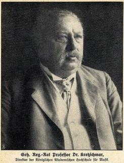 Hermann Kretzschmar Teacher, performer, musicologist and author