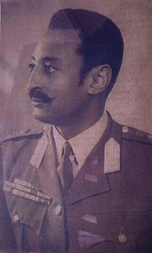 A black and white photograph of Mengistu Neway