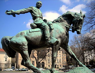Equestrian statue of Philip Sheridan in the center of Sheridan Circle in Washington, D.C. General Philip Sheridan Memorial - Rienzi.JPG