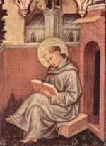 Saint Thomas d Aquin, docteur de l Église catholique, de Gentile da Fabriano, 1400, 49 x 38cm, Milan, Pinacothèque de Brera